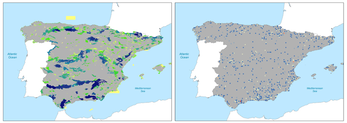 Results from Complementa: complementarity analysis on protected areas and cells for Spain.