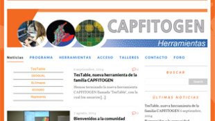 Visual aspect of the new website of the Program and CAPFITOGEN tools (in Spanish)