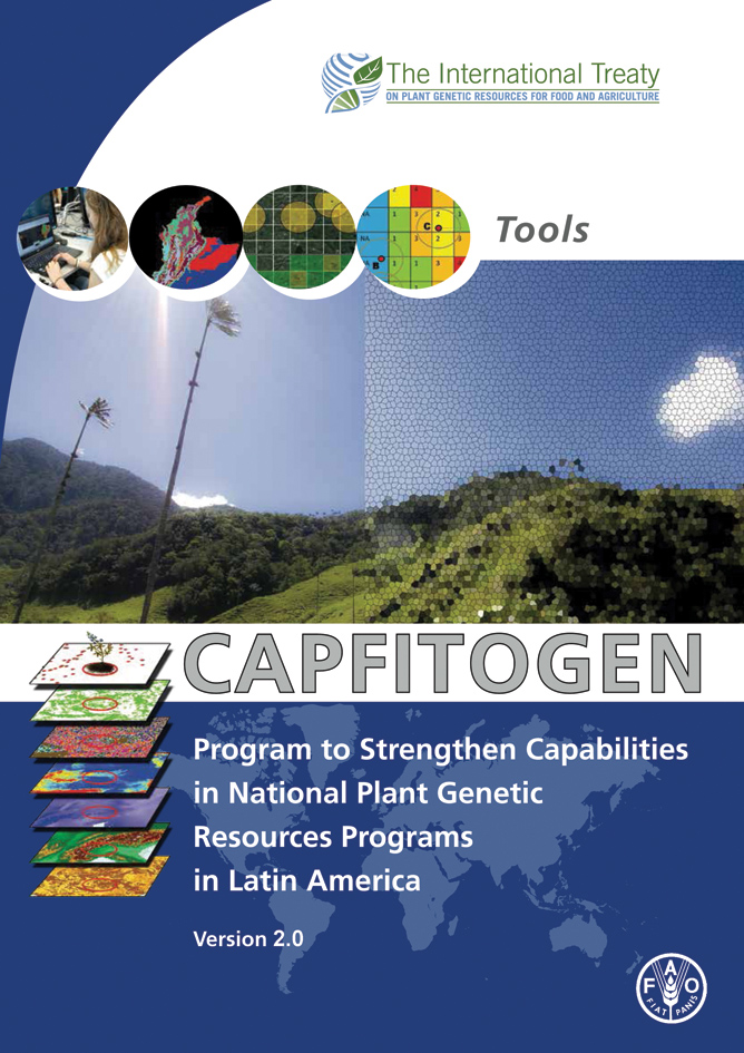 Cover of the new user's manual of the CAPFITOGEN tools version 2.0
