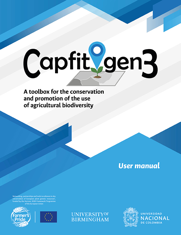 Cover of the CAPFITOGEN3 user manual in English